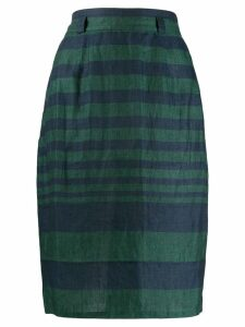 Versace Pre-Owned 1980s striped wrap skirt - Green