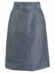 Vivienne Westwood Pre-Owned 1980s pinstripe skirt - Blue
