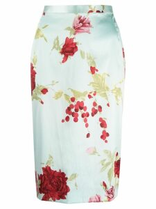 Dolce & Gabbana Pre-Owned floral zipped skirt - Blue