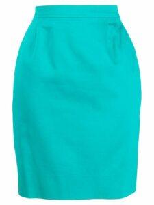 Yves Saint Laurent Pre-Owned 1980s pencil skirt - Blue