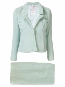 Chanel Pre-Owned slim-fit skirt suit - Green