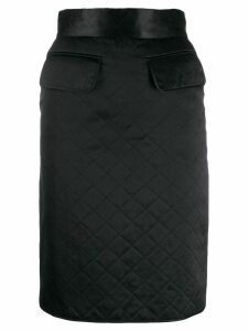 Chanel Pre-Owned 1990s diamond quilted skirt - Black