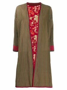 A.N.G.E.L.O. Vintage Cult 1970s striped floral reversible coat - Green