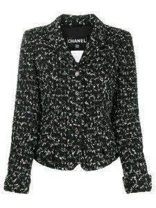 Chanel Pre-Owned 2006 textured slim jacket - Black