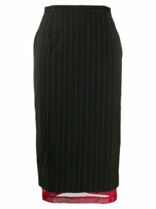 Dolce & Gabbana Pre-Owned 1990s pinstriped layered skirt - Black