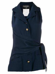 Chanel Pre-Owned 1990s wrap waist vest - Blue