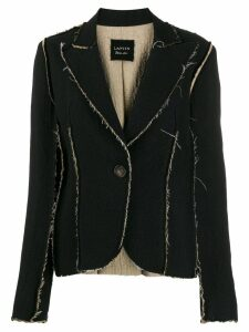 Lanvin Pre-Owned 2010s distressed trim blazer - Blue