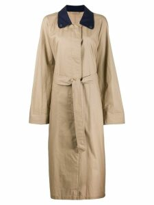 A.N.G.E.L.O. Vintage Cult 1990s belted trench coat - NEUTRALS
