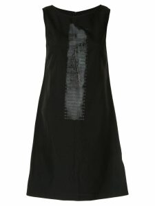 Fendi Pre-Owned printed logo straight-fit dress - Black