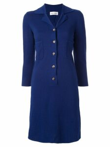 Yves Saint Laurent Pre-Owned knitted slim-fit dress - Blue