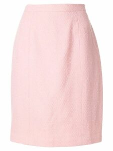 Chanel Pre-Owned textured straight skirt - PINK