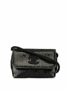 Chanel Pre-Owned sequinned CC crossbody bag - Black