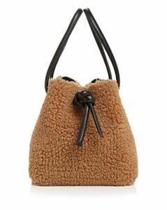 Vasic Bond Mini Faux Fur Bucket Bag