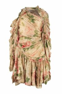 Zimmermann Espionage Printed Dress With Wrinkles