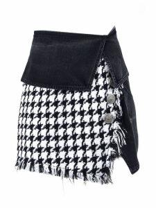 Balmain Short Black And White Skirt