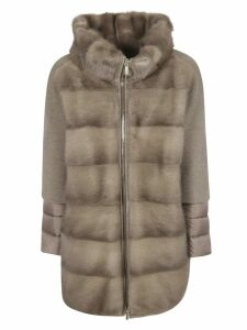 Moorer Antiope-kas Double-layered Padded Sleeve Zipped Parka