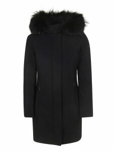 Classic Zipped Furry Hood Coat