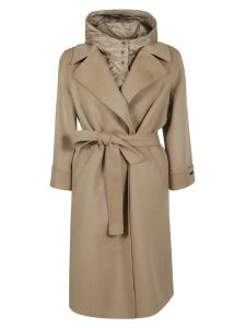 Peserico Belted Waist Long Trench Coat
