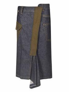 Sacai Denim Wrapped Skirt