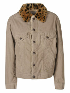 R13 Leopard Collar Buttoned Jacket