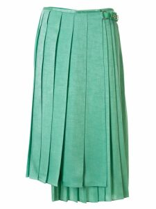 Fendi Textured Silk Skirt