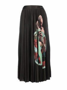Valentino Printed Plisse` Skirt