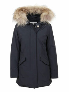Blue Cotton Padded Coat