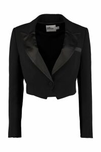 self-portrait Satin Lapels Blazer