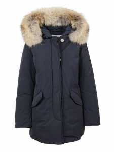 Blue Technical Fabric Padded Coat