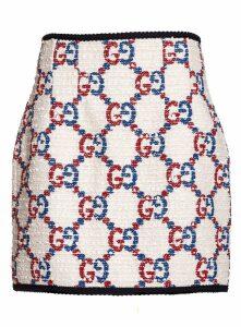 Gucci Miniskirt Tweed Gg