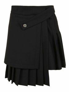 Off-White Formal Multipanel Mini Skirt Black No Co