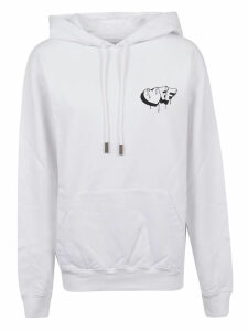 Off-White Markers Regular Hoodie White Black