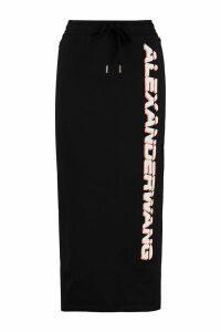 Alexander Wang Logo Print Cotton Skirt