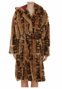Gcds Monogram Birds Eco Fur Coat