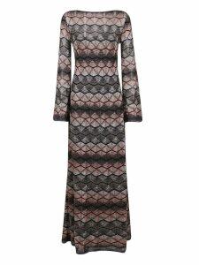 Patterned Lurex Dress