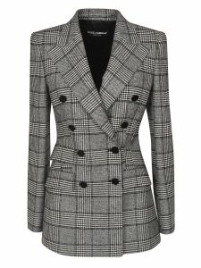 Dolce & Gabbana Checked Double-breasted Blazer