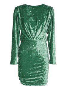 The Attico Stud Detail Green Dress