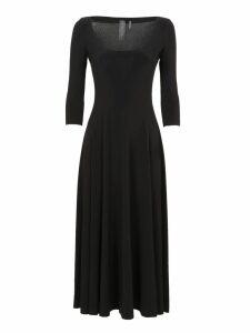 Norma Kamali Reversible Scoop Neck Flared Dress