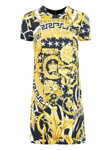 Versace Allover Print Dress