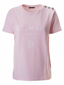 Balmain Buttoned Detail T-shirt