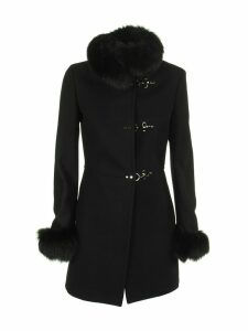 Fay Black Fur Coat