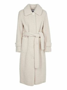 STAND Lottie White Faux Fur Coat
