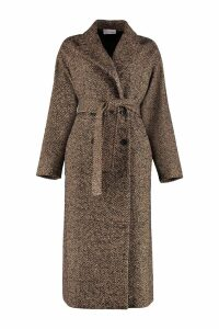 RED Valentino Long Mixed Wool Coat