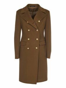 Tagliatore Camel Double Breasted Coat