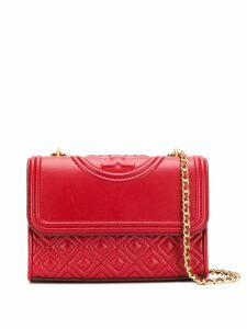 Tory Burch quilted fold-over bag - Red