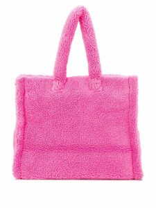 Stand shearling tote bag - Pink