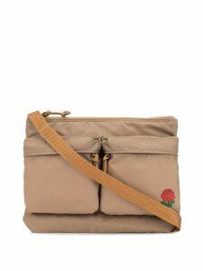 Undercover printed logo shoulder bag - Brown