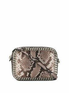 Casadei snakeskin print shoulder bag - Grey