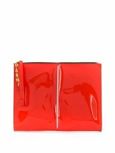 Marni patent clutch bag - Red