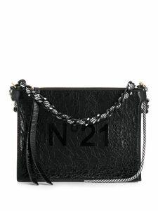 Nº21 wrinkled effect shoulder bag - Black
